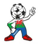 Novelty FOOTBALL HEAD MAN With Welsh Wales CYMRU Flag Motif For Football Soccer Team Supporter Vinyl Car Sticker 100x85mm
